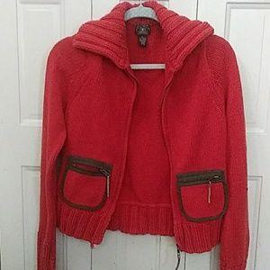 Lucky Brand zip-up cardigan size XL